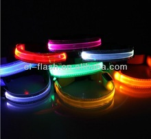 Pets Safety LED Collars /Transparent Nylon LED Flashing Collars