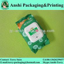 Print baby wipes packaging bag wet wipes package