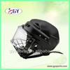 Ice hockey inline helmet with the cage