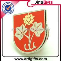 Custom metal emblem label pin badges
