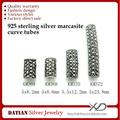 xd km369 molti formati thailandia argento 925 gioielli marcasite tubi