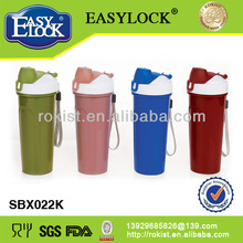 colorful pp practical juice plastic protein shaker bottle made in China