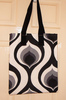 Cotton tote bag naturally dyed abstract print gift bags cotton