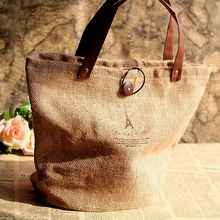 eco friendly Cotton/Linen tote bag with waterproof