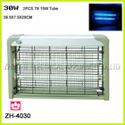 30W Aluminum mosquito catcher with two pieces T8 tube LED lamp for kill pest