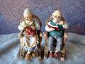 özelleştirilmiş yaşlı çift insan figürü, yüksek kaliteli plastik insan figürü