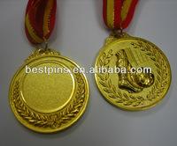 custom sports medal gold sandblasting