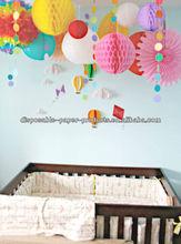 honeycomb lantern Tissue Paper Honeycomb Balls pompoms . Garlands . Lanterns Hanging Decor Flower Wedding Party