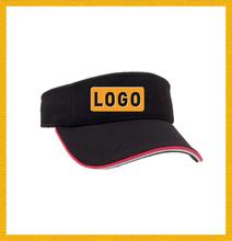 Clean design 100% cotton custom made black visor sports team visors