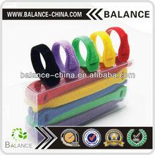 Customized nylon hook loop cable tie,velcro tie strip