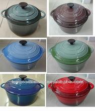 Cast Iron Enamel Casserole/Cast Iron cookware with various color
