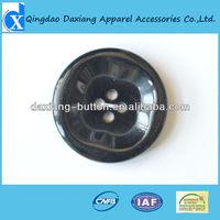 Shiny black polyester resin button