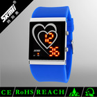 Wholesale custom led wrist silicone girls love watch for Promotion and Gift