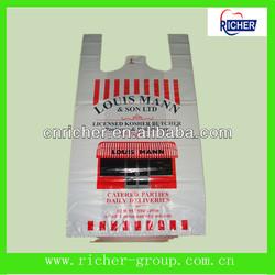 PE Printed Bag,Plastic T-shirt Bag,Shopping Bag china manufactourers