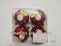 plástico bolas de natal com desenho bonito