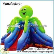 octopus inflatable slide,inflatable water slide FLSL067