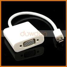 For Macbook VGA Adapter, Mini DisplayPort to VGA +Audio Video AV HDTV Cable Adapter