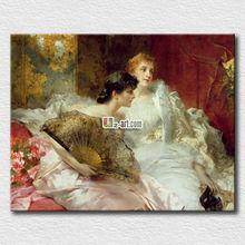 Wholesale canvas prints high quality art european woman pictures