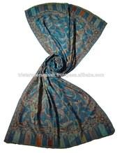 de alta calidad azul bufanda de cachemira