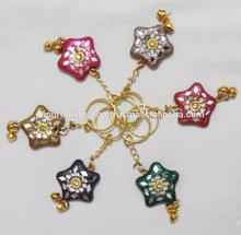 Thanks Gift - Star Shaped Lac Key Chain / Key Rings