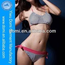 2014 new arrival charming stripe bikini xxx china photo,one piece bra design nude chinese girls photos bikini swim beach