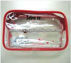 2014 New Listing, Plastic Waterproof pvc cosmetic bag for Various Usages