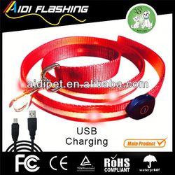 High quality custom led dog leash factory supply