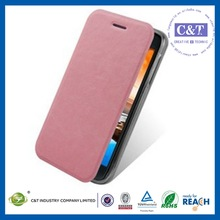C&T leather Wallet cover skin for lenovo s650 case