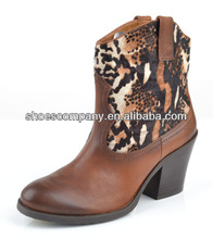 2014 fashion ladies ankle boots shoes mix material