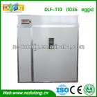 Discount!2014 CE approved automatic DLF-T10 high hatching rate holding 1056 chicken eggs/parrot incubators for sale