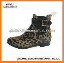 Latest Fashion ankel PVC Rain Boot for Women