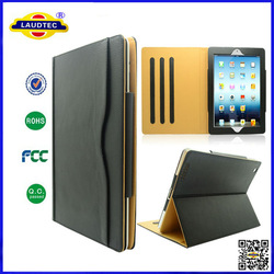 Tan Leather Stand Case for iPad 2/3/4 , New Style Leather Case for ipad 2/3/4