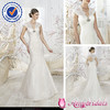 SA 6708 cap sleeve suzhou wedding dress with lace bolero jacket
