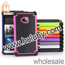 Cute 3 in 1 Hybrid Double Color Basketball Skin PC + Silicone Back Case Cover For HTC One M7