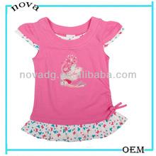 H800 little girl online shopping apparel bulk girl tight t-shirt size wholesale