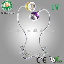 Flexible aluminium 1W arm led gooseneck lamps adjustable epistar with ce&rohs