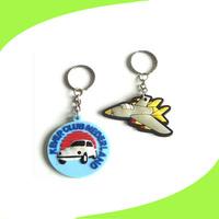 mini handcuff car and plane logo keychain