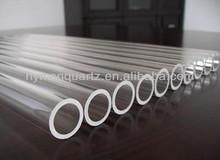 Good light transmittance transparent quartz pipes,High precision clear quartz glass tubes with