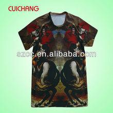 Custom sublimation 3D tshirt swing away tshirt sublimation