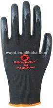 black nitrile foam dipped nylon gants,high quality ,CE Approved