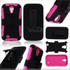 3 in 1 PC and Silicone Combo holster Case for Samsung Galaxy S4 I9500 P-SAMI9500HCSO016