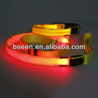 2014 the most popular glow in the dark led pet collar and leash