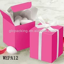 make red wedding favor boxes