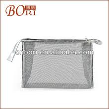 Promotion cosmetic bag,make up bag,beauty bag silver glitter paper bag