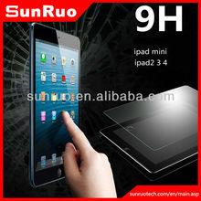 premium tempered glass screen protector ipad/ ipad mini/ipad air with 0.3mm thick 9H hardness