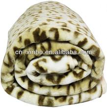 Mink Raschel Safari Animal Print Blanket