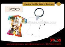 Personalized Sublimation Hardboard Key Tag