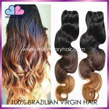 mixed color hair extension,3 tone ombre hair weave,100% virgin hair