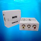 Mini HD Video Converter Box HDMI to AV/CVBS L/R Video Adapter