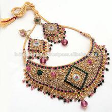 latest / artificial jewalry /jade /jadau / bollywood/cz/ad kundan/bridal//traditional jewelry set with tops